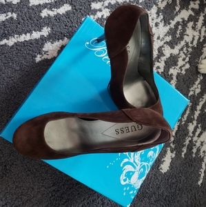 Guess Brown Suede Stiletto Pumps